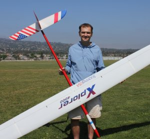 Tom Kiesling with his F3J Xplorer.
