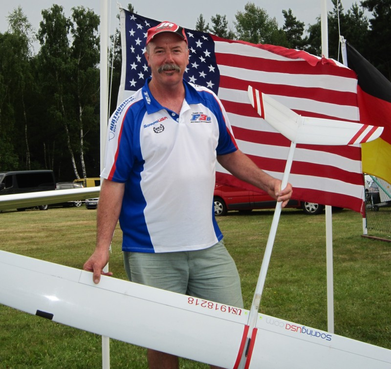 Gordon and his Target at the 2013 F3B worlds in Nardt Germany.